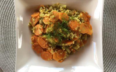 Kitchari mit grünen Mungbohnen und Reis